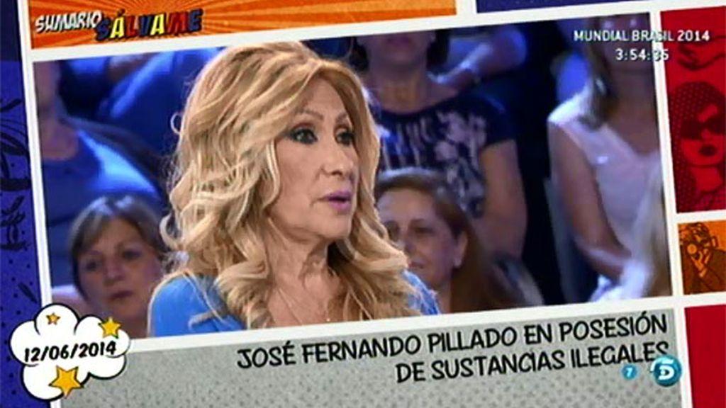"""Rosa, sobre Jose Fernando: """"Como siga tropezando, volverá a donde lo pasó tan mal"""""""