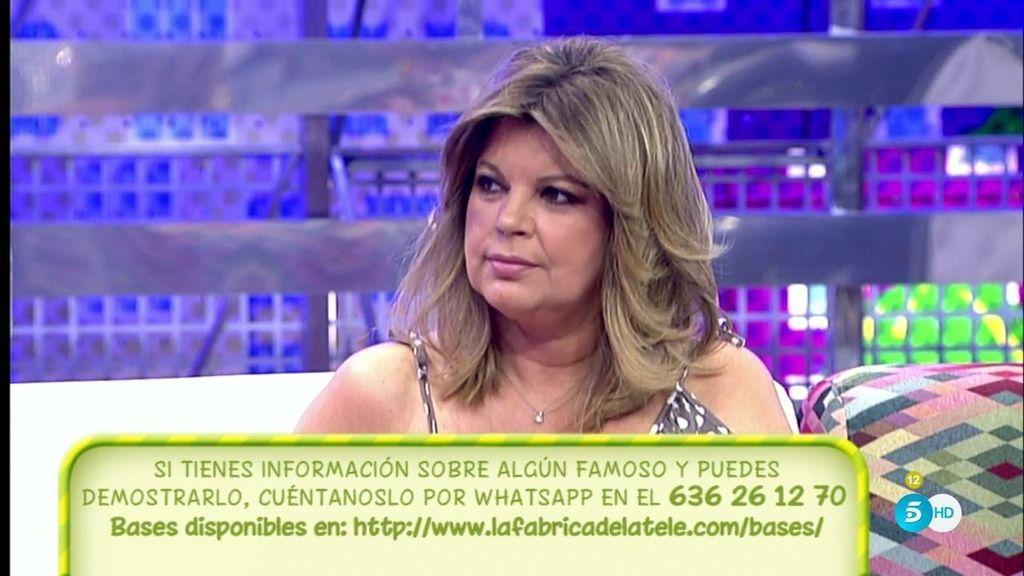 """Terelu Campos, sobre Alba Carrillo: """"Está tranquila, menos afectada y sigue sin conocer los motivos del divorcio"""""""