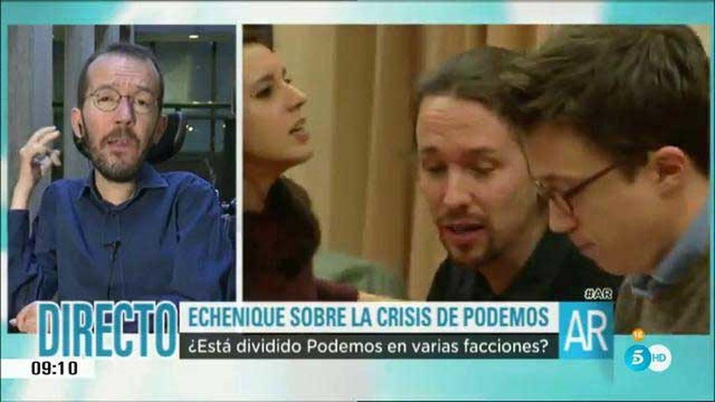 """Echenique: """"En Podemos se consultan todos los temas importantes"""""""
