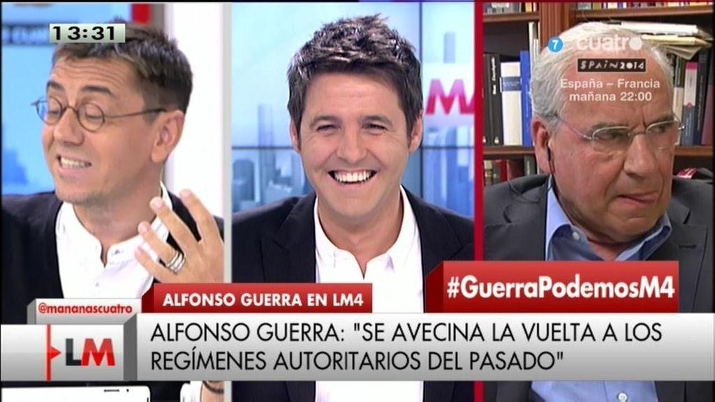 El debate entre Juan Carlos Monedero y Alfonso Guerra, íntegro