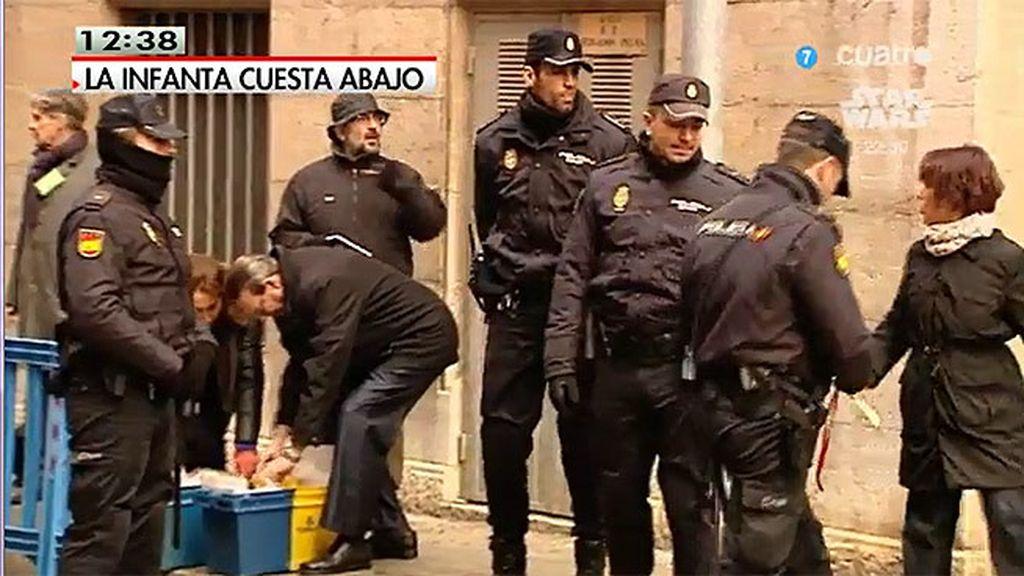 110 agentes de Policía Nacional velarán para que nada altere la declaración de la Infanta