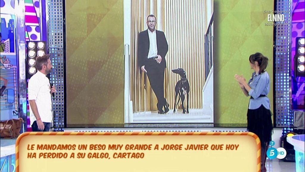 'Sálvame' manda todo su cariño a Jorge Javier tras haber dicho 'adiós' a su galguito