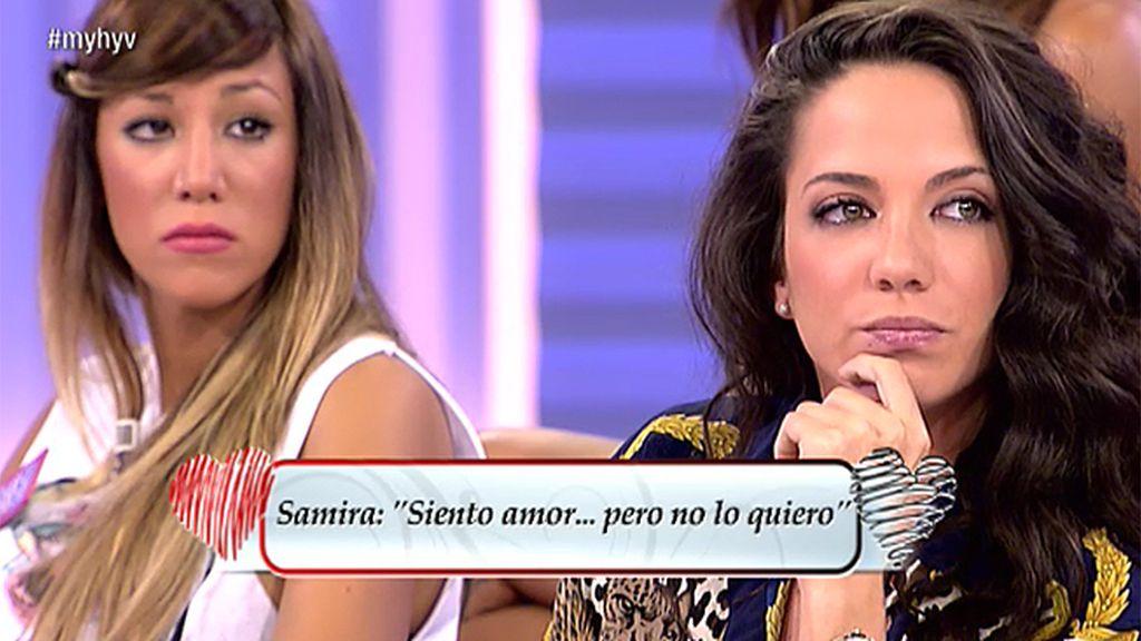 """Samira: """"Siento amor, pero no le quiero"""""""