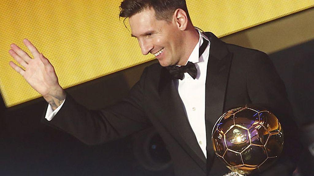 Leo Messi gana su quinto Balón de Oro por delante de Cristiano Ronaldo y Neymar