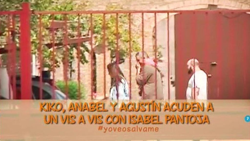 Kiko Rivera, Agustín y Anabel Pantoja visitan a la cantante en prisión