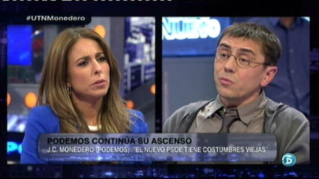 """Monedero: """"Pedro Sánchez dice que el PSOE no es lo mismo que el PP, pero últimamente les detienen juntos"""""""