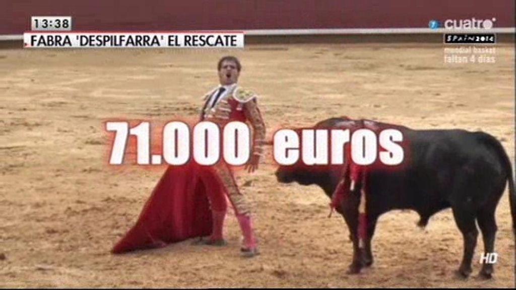 Valencia paga con dinero del rescate entradas para toros, Real Madrid y Barça