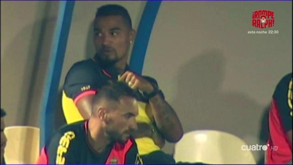 Kevin Prince Boateng fue la estrella de Las Palmas aunque no jugó ni un minuto