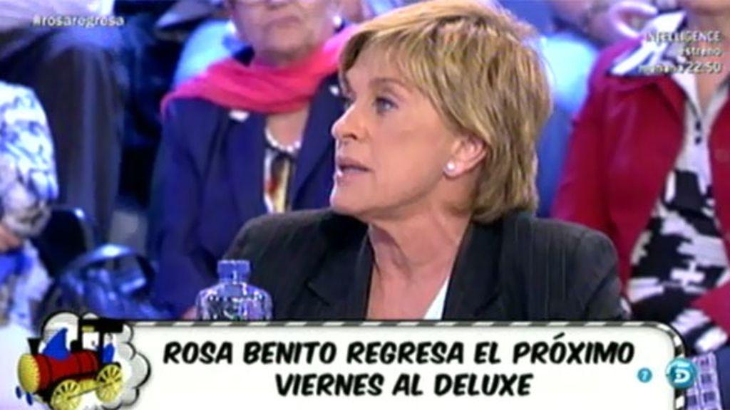 "Chelo G. Cortés: ""Me temía que Rosa iba a tardar y no quería irme unos días sin verla"""