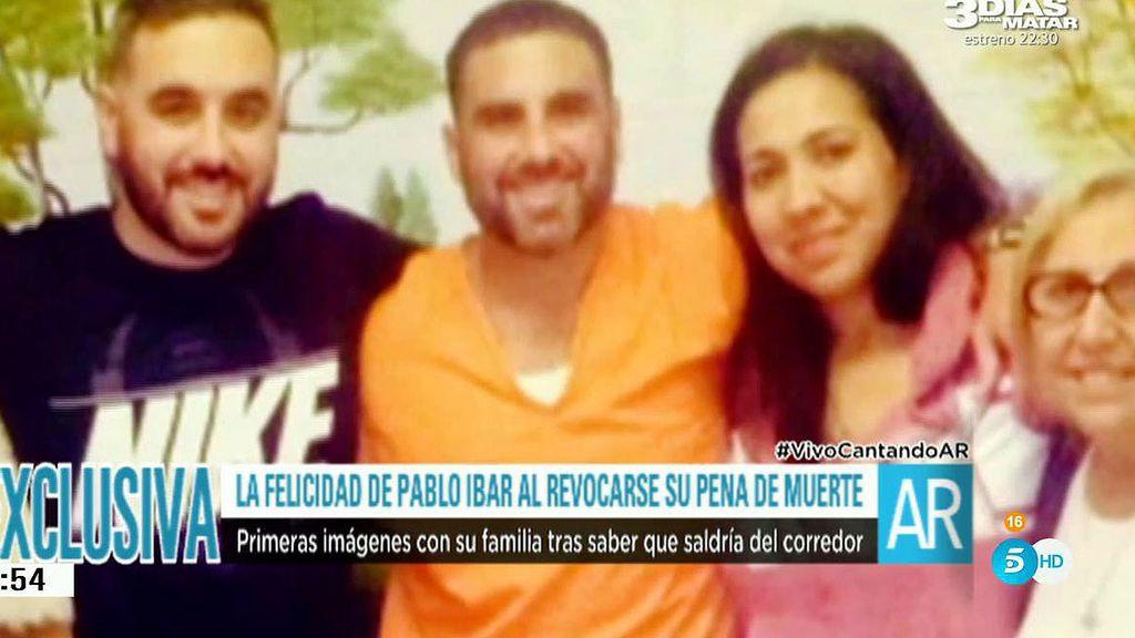 Pablo Ibar se reencuentra con su familia fuera del corredor de la muerte