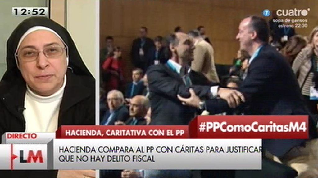 """Sor Lucía Caram: """"Los soldados de Montoro están perdidos como está perdido él"""""""
