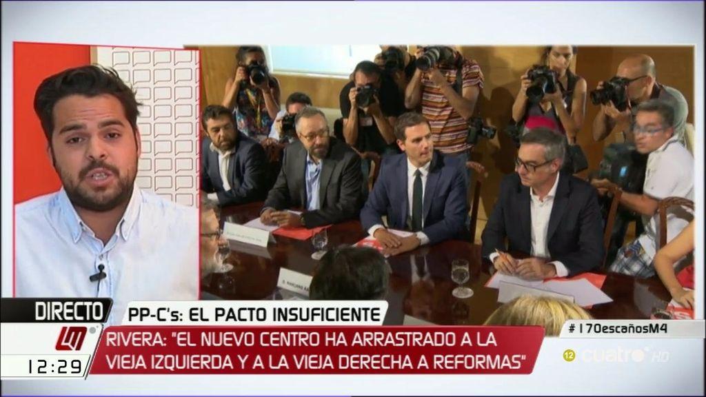 """F. de Páramo: """"Hay 100 propuestas que firmó Sánchez y que ahora ha firmado Rajoy"""""""