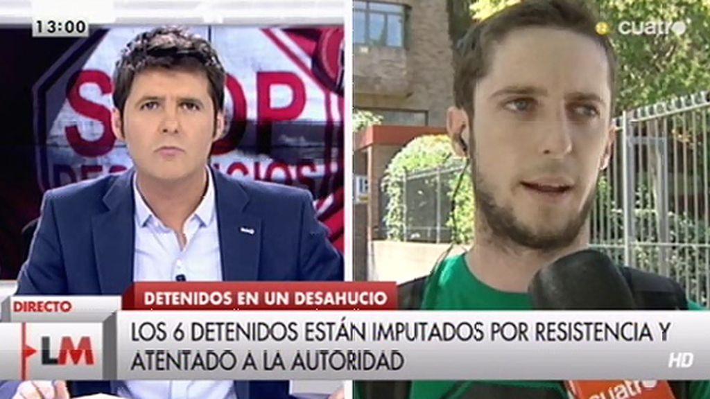 """Álex Martí: """"Nos detuvieron por intentar defender el derecho legítimo a la vivienda"""""""
