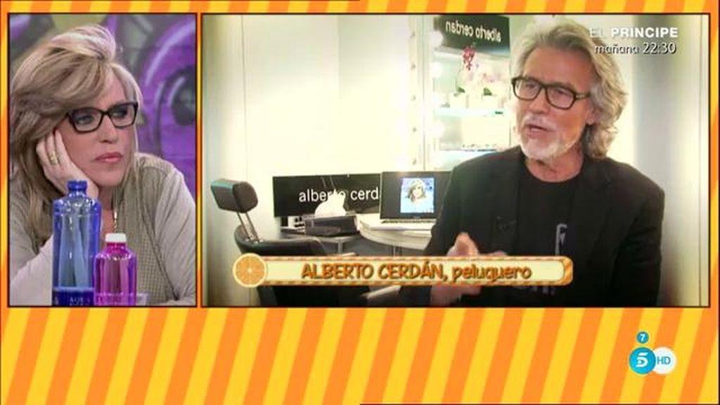 """Alberto Cerdán, peluquero: """"Cuando vi el cabello de Mónica pensé 'ha pasado algo"""""""