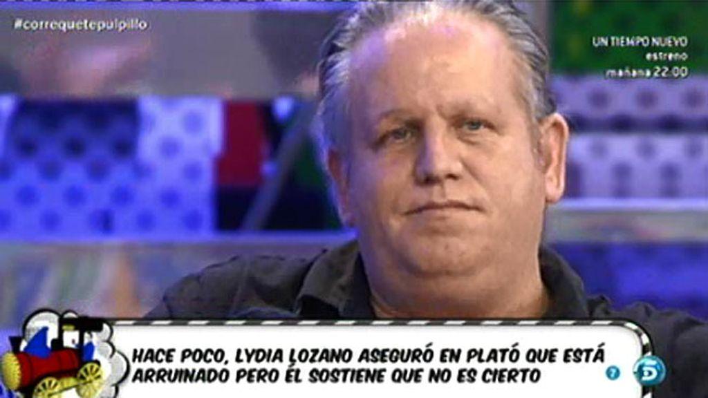 Pulpillo, de 'GH 8', niega estar arruinado y Lydia Lozano le pide disculpas
