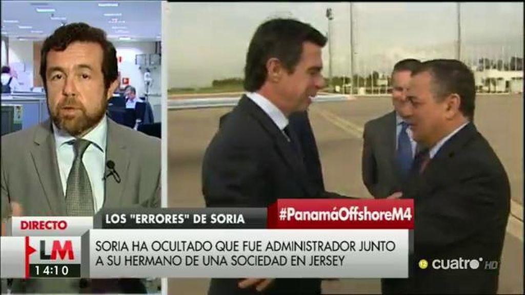 """M. Gutiérrez: """"Lo que nos gustaría es primero escuchar las explicaciones del señor Soria"""""""