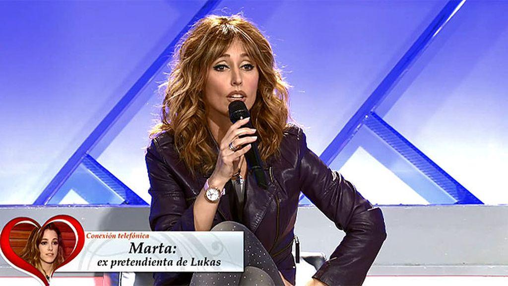 """Marta, por teléfono: """"Creo que nunca le he gustado a Lukas"""""""
