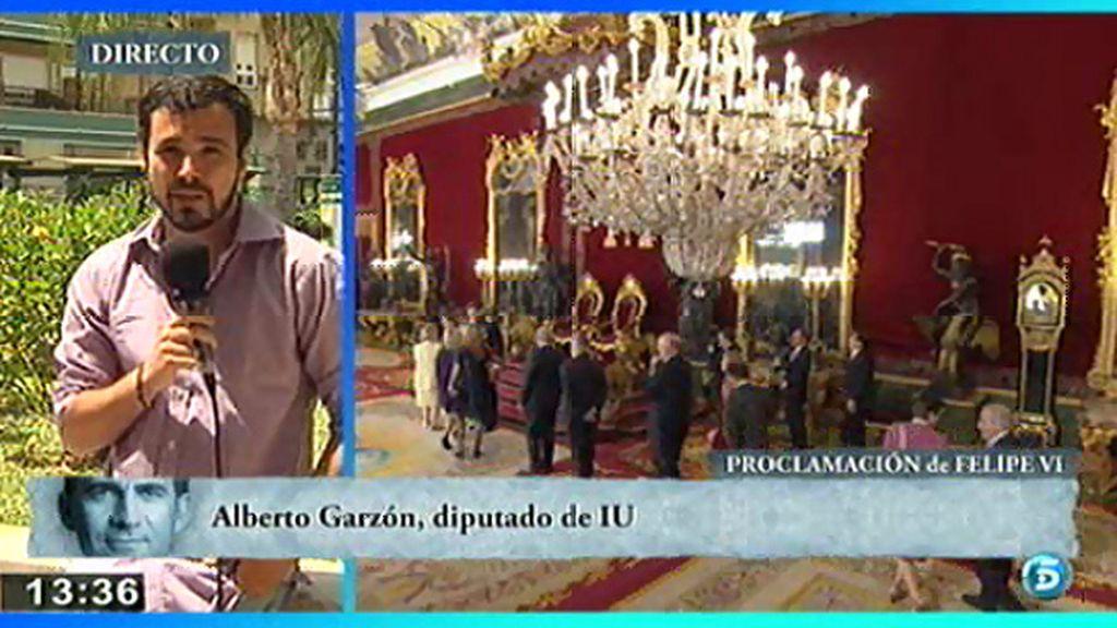 """Alberto Garzón, sobre Don Felipe: """"Es un discurso vaporoso que se esfuma"""""""