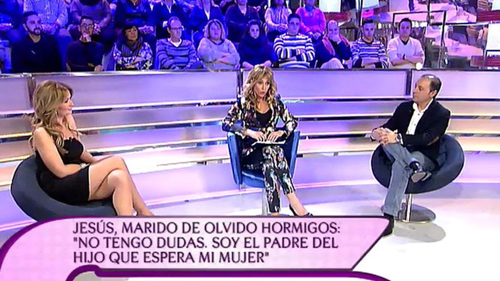 Jesús Atahonero, por primera vez en un plató junto a su mujer, Olvido Hormigos