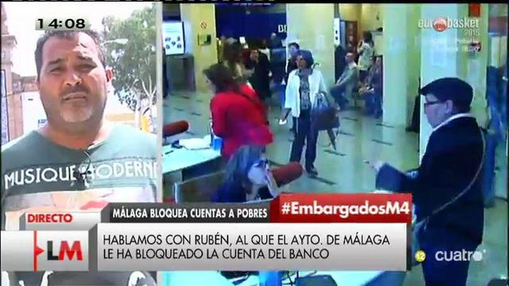 Rubén asegura que le embargan parte de su dinero a pesar de sólo cobrar 426€