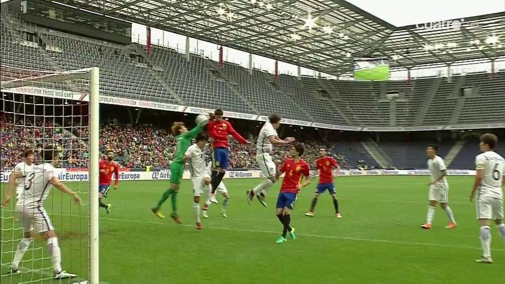 ¡Por fin! Álvaro Morata consigue su gol después de dos tantos anulados