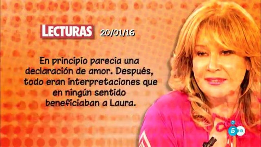 "Mila Ximénez: ""Kiko tendió en el plató una carta que pertenecía a la intimidad de Laura"""