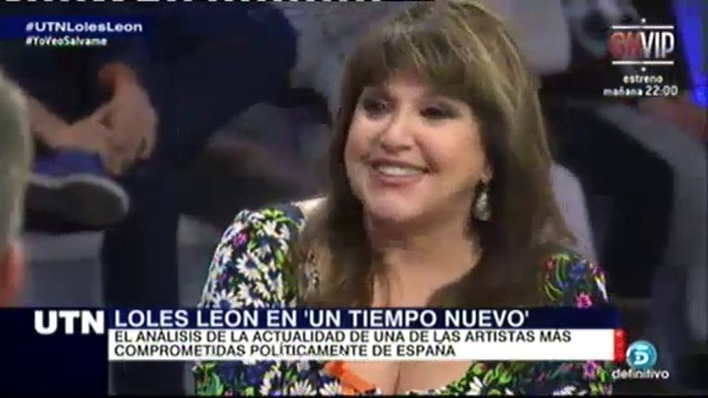 """Loles León: """"Con la corrupción sería como la Dra. Queen, cogería el bisturí y ¡abriría todo!"""""""
