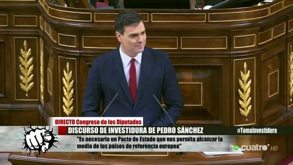 """Sánchez bromea con el hemiciclo: """"Y todo puedo hacerlo a partir de la próxima semana"""""""