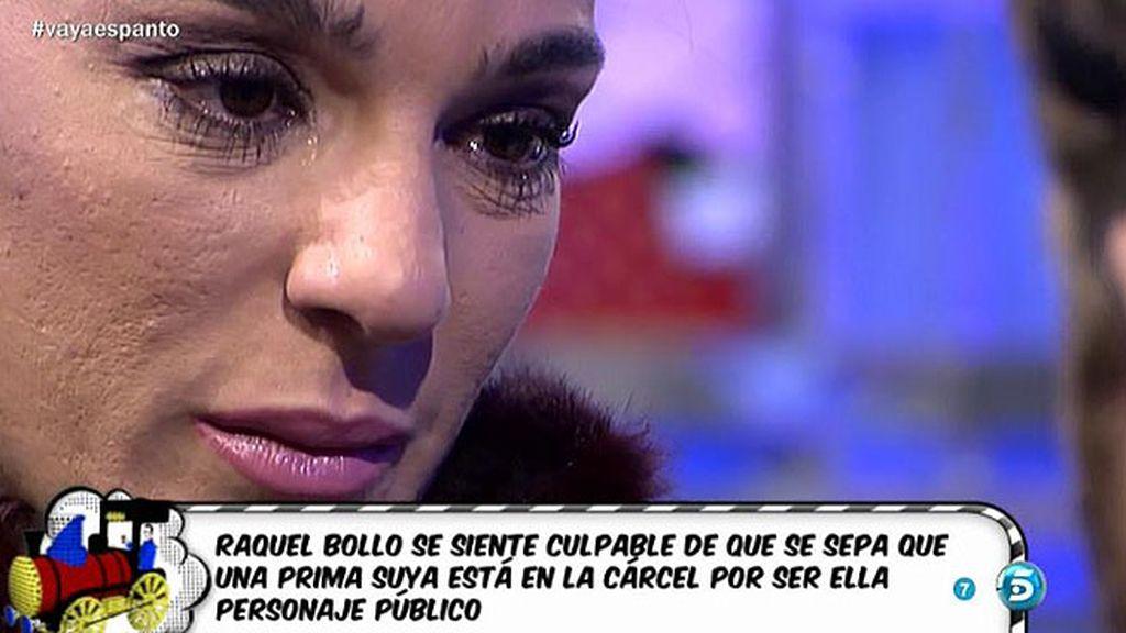 Raquel Bollo abandona el plató llorando