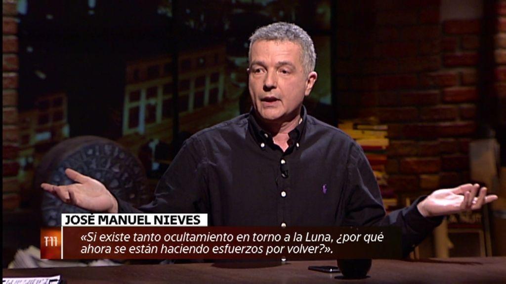 """José Manuel Nieves: """"Si hay tanto ocultismo en torno a la Luna, ¿por qué quieren volver?"""