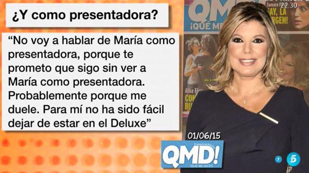 """Terelu, de María Patiño: """"No voy hablar de ella como presentadora porque no la veo"""""""