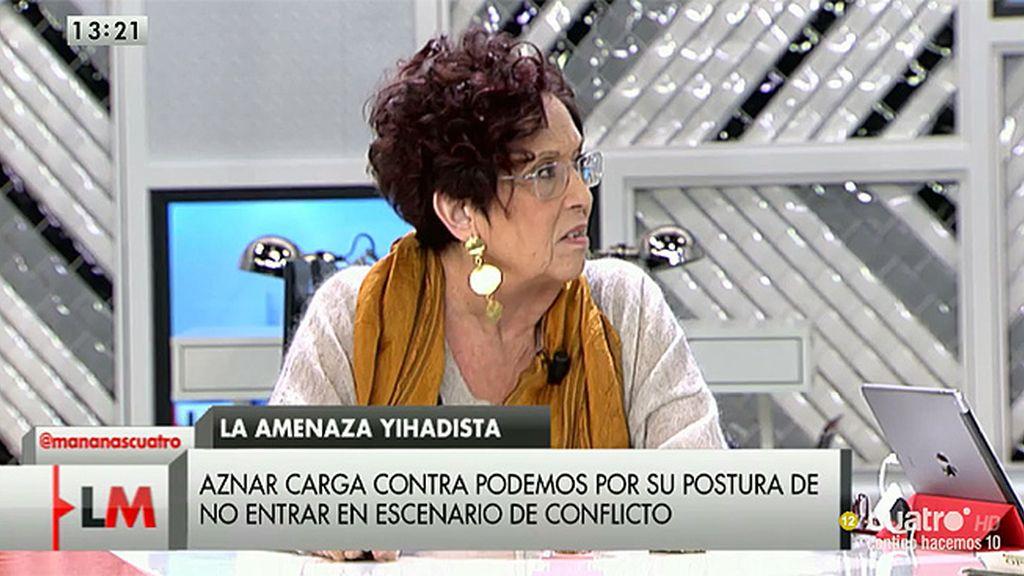 """Maruja Torres: """"La acción militar es ineficaz y se ha demostrado desde que se invadió Irak"""""""
