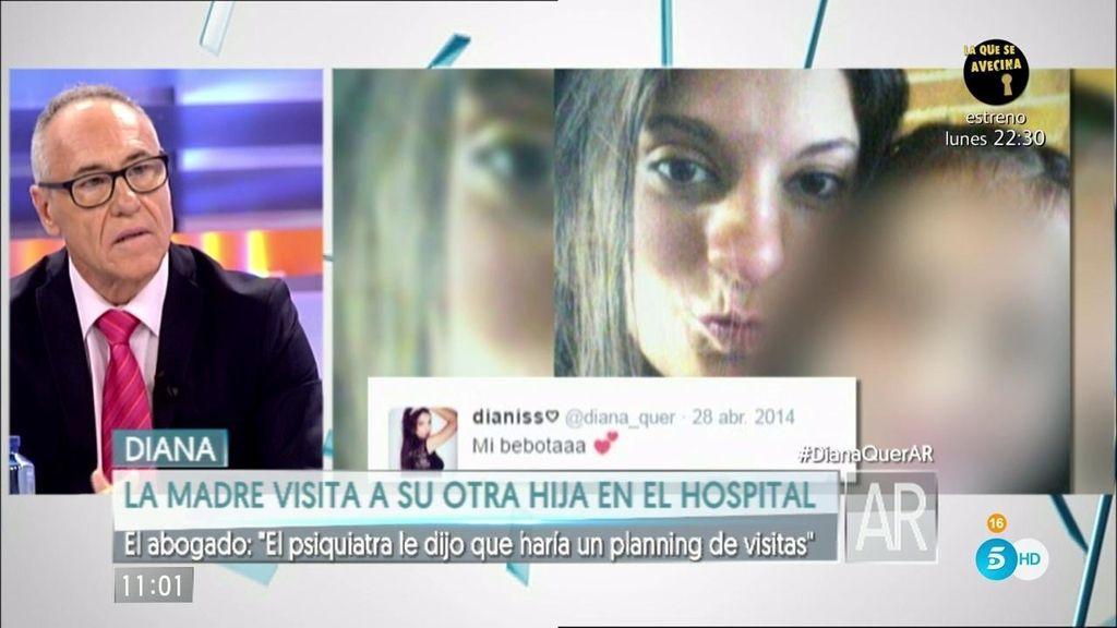 """El abogado de Diana López Pinel: """"Valeria está ingresada y quiere ver a su madre"""""""