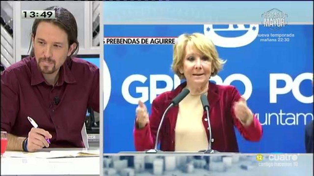 """Pablo Iglesias: """"Aguirre se está riendo de todos los españoles a la cara"""""""
