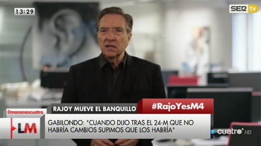 """Gabilondo: """"Rajoy es un hombre previsible, siempre hace lo contrario de lo que dice"""""""
