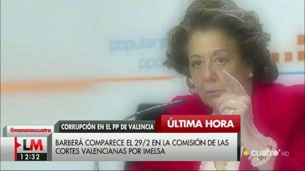 Rita Barberá comparecerá el 29 de febrero