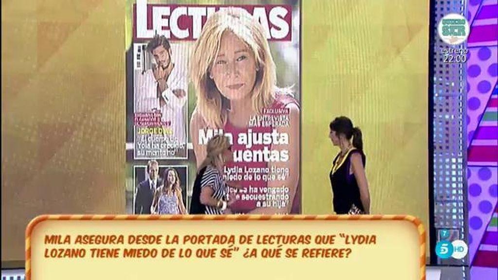 """Mila Ximénez, en 'Lecturas': """"Lydia Lozano tiene miedo de lo que sé"""""""
