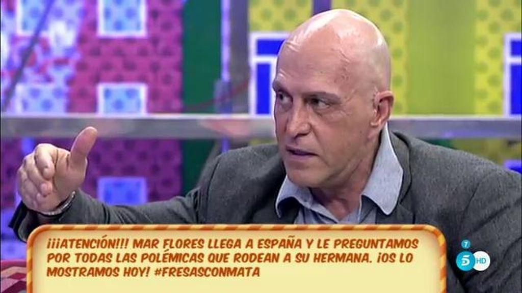 """Kiko Matamoros, defiende a Javier Tudela: """"No es ningún clasista"""""""