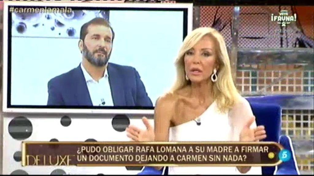 """Carmen Lomana: """"No sé qué hace Miguel Temprano metido en mi familia"""""""