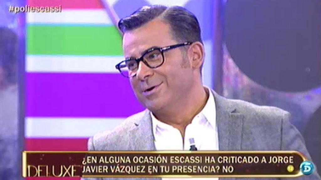 ¿Ha criticado en alguna ocasión Escassi a Jorge Javier Vázquez?