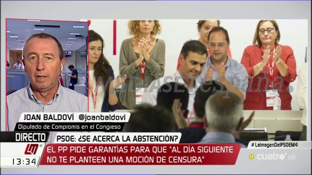"""Baldoví: """"El PSOE ha dado todos sus ases y, ahora, el PP puede hacer lo que quiera"""""""
