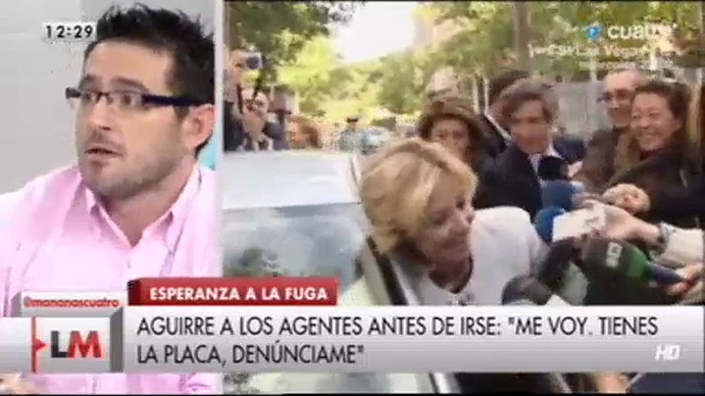 "Jesús Méndez, sobre Esperanza Aguirre: ""Solamente presentó el carnet de conducir"""