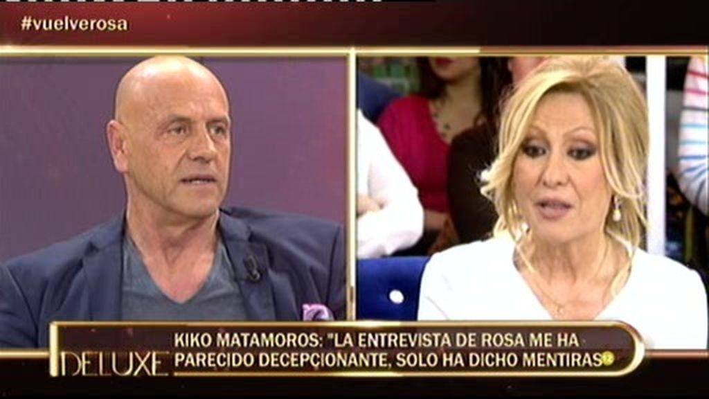 """K. Matamoros: """"La entrevista de Rosa ha sido decepcionante, solo ha dicho mentiras"""""""