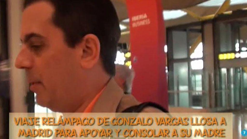"""Gonzalo Vargas Llosa: """"Vine a ver a mi madre el fin de semana"""""""