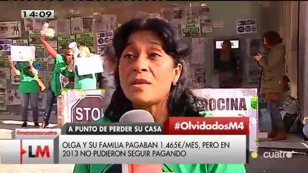 """Olga puede perder su casa: """"El banco no quiere cumplir la ley"""""""