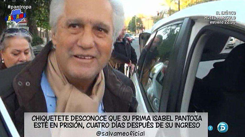 """Chiquetete: """"Desconozco si Isabel Pantoja ha entrado en la cárcel"""""""