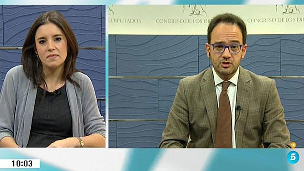 """Montero responde a Hernando: """"No me explico que negocien con Ciudadanos"""""""