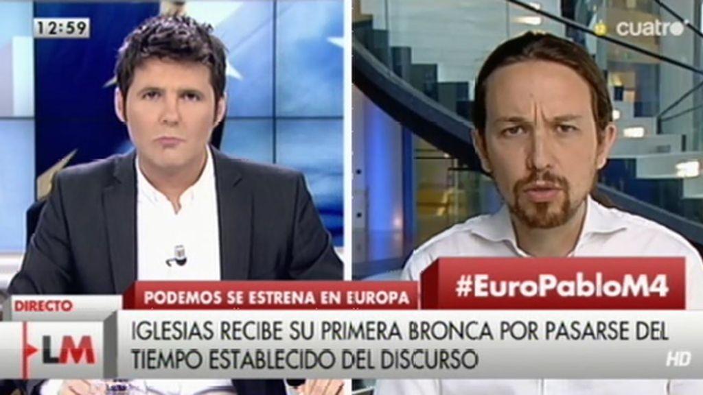 """P. Iglesias: """"Para mí, la persona importante en el Parlamento no era su presidente, eran los ciudadanos de nuestro país"""""""
