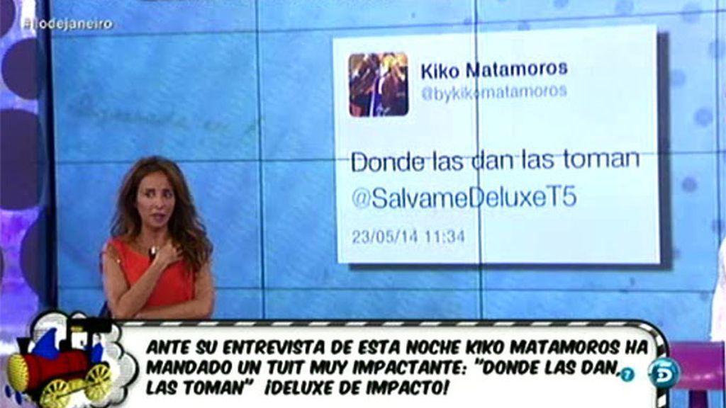 """Kiko Matamoros está preparado para el 'Deluxe': """"Donde las dan, las toman"""""""
