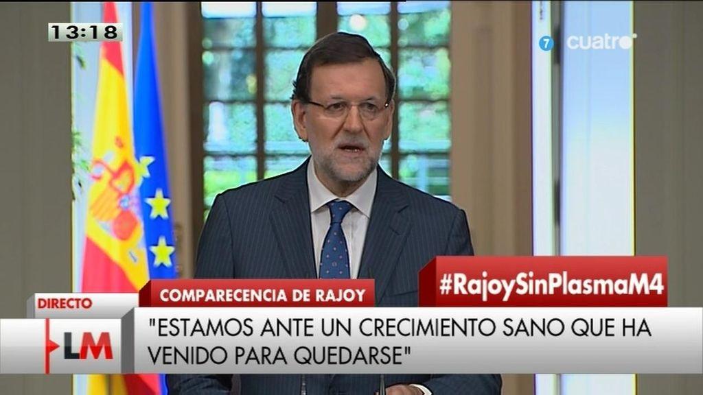 """Mariano Rajoy: """"Las cosas van mejor de lo que habíamos previsto"""""""